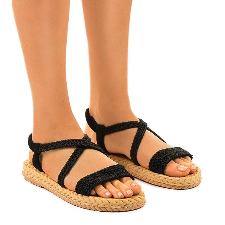 Dámské sandály černé C602 černá