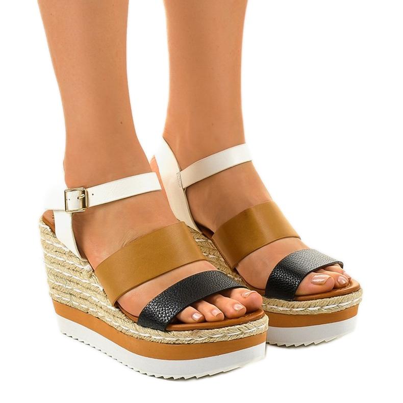 Černé espadrillesové klínové sandály VB76062
