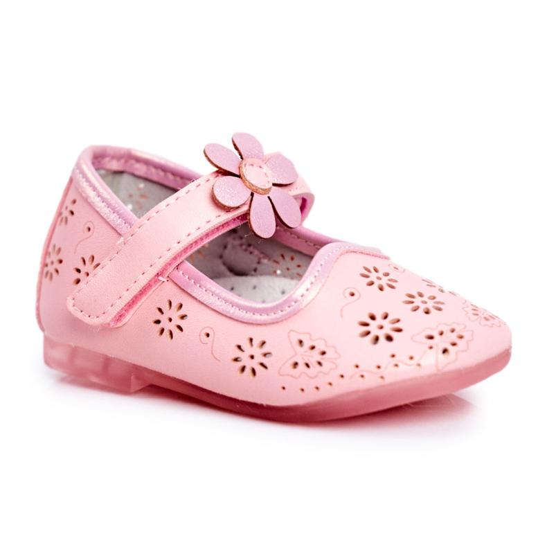 Apawwa Dětské byty Velcro Flower Pink Flored růžový