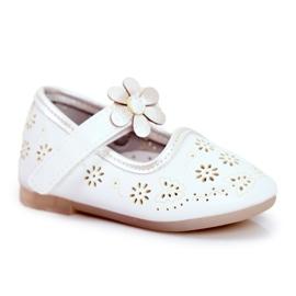 Apawwa Dětské byty Velcro Flower White Flored bílá