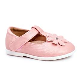 Apawwa Dětské baletky s Velcro Flower Pink Antrela růžový
