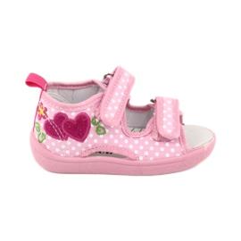 American Club Dětská obuv pantofle sandály srdce American TEN20