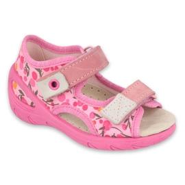 Befado dětské boty pu 065P143 růžový