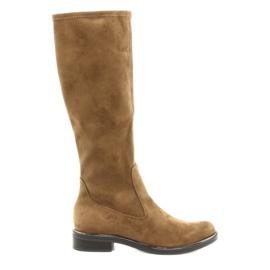 Dámské strečové boty Caprice 25512 koňaku hnědý