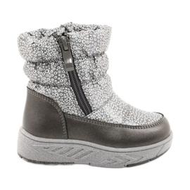 Evento Slečna holo zimní boty stříbro šedá