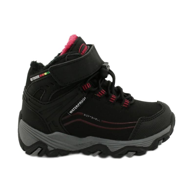Softshellové boty s membránou American Club černá červená