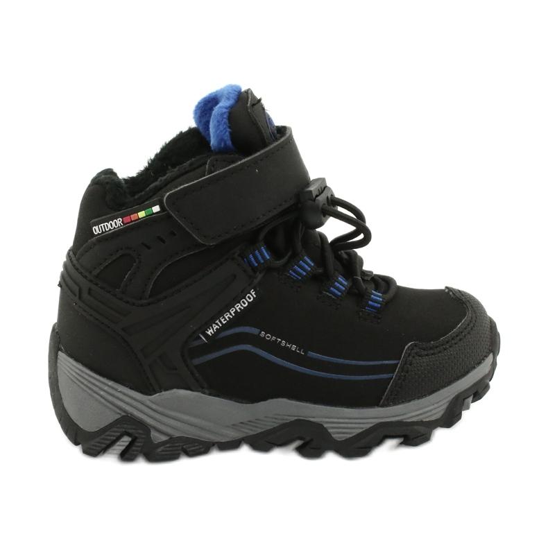 Softshellové boty s membránou American Club černá modrý