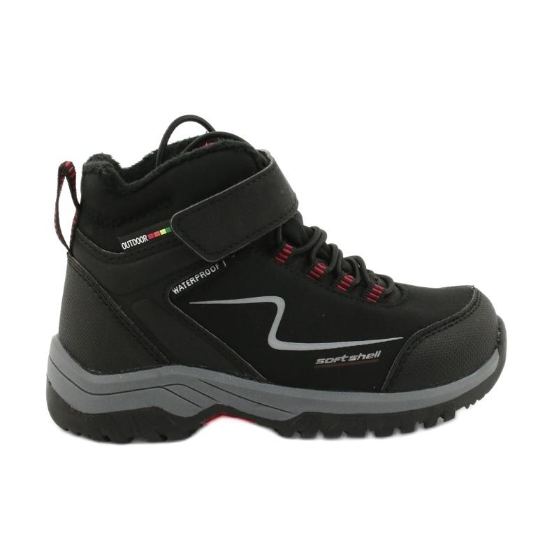 Měkké sportovní boty s membránou American Club HL38 / 20 černá červená