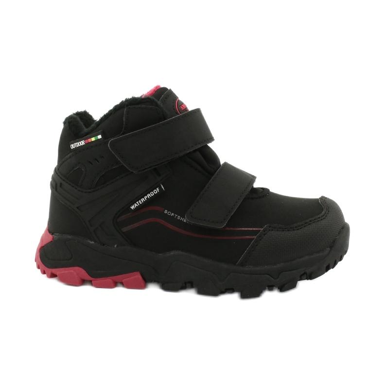 American Club Softshellové boty s membránou černá červená
