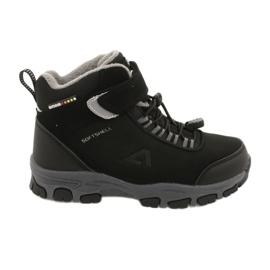 American Club Americké softshellové boty zimní boty s membránou černá šedá