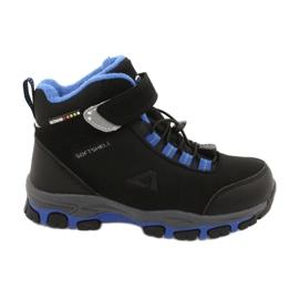 American Club Americké softshellové boty nepromokavé boty s membránou černá modrý