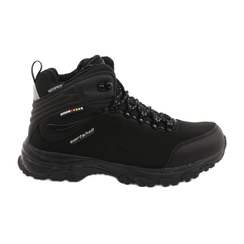American Club Americké trekové softshellové boty s membránou černá