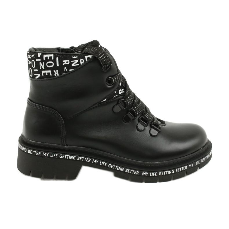 Tisk Módní černé boty Evento 20DZ60-3232 bílá černá