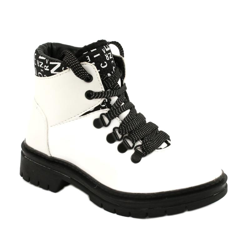 Tisk Módní bílé boty Evento 20DZ60-3232 bílá černá