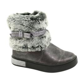 American Club Americké cínové boty na zip se zapínáním na cín stříbro šedá
