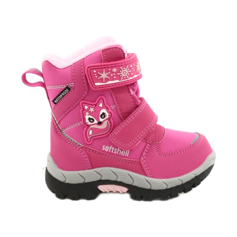 Softshellové boty American Club s membránou HL47 / 20 růžová růžový