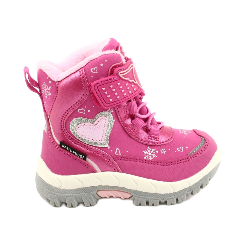 Softshellové boty American Club s membránou HL48 / 20 růžová růžový stříbro