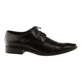 Černá Kožené boty Pilpol 1385 černé