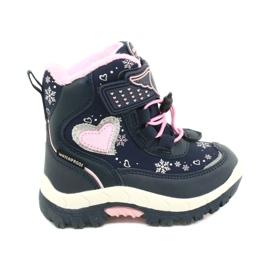 Softshellové boty American Club s membránou HL48 / 20 navy válečné loďstvo růžový stříbro