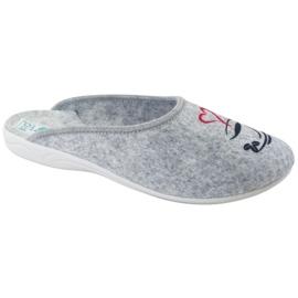 Plstěné pantofle Wake Up Adanex 25642 šedá černá