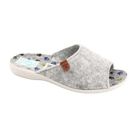 Plstěné pantofle Adanex 25494 šedá