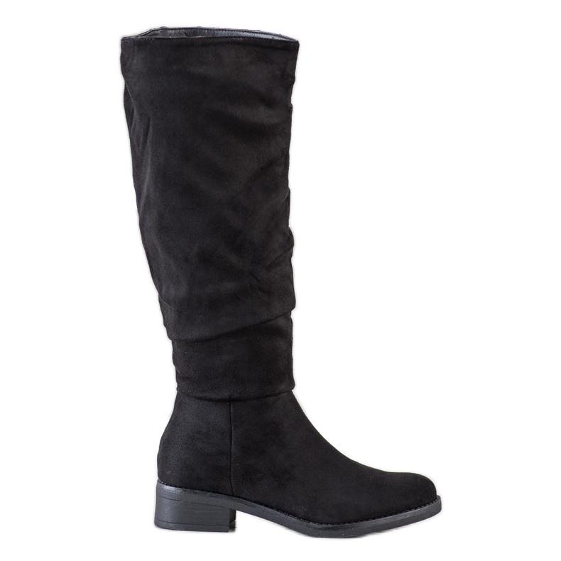 Sweet Shoes Semišové boty černá