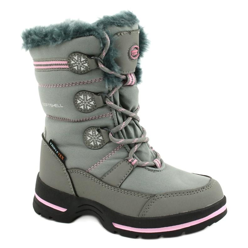 American Club Americké softhell nepromokavé boty SN13 / 20 šedá růžový