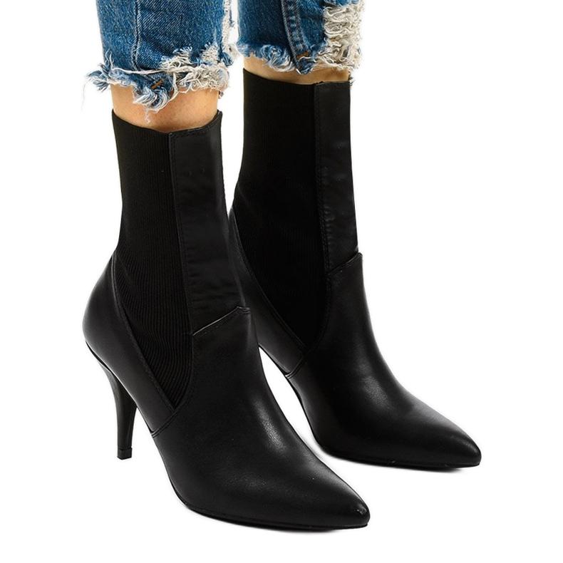 Černé vysoké podpatky s ponožkou Daywillow černá