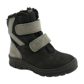 Černé boty s membránou Mazurek 1351 černá šedá