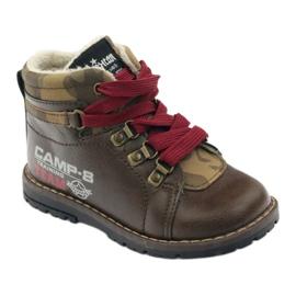 American Club Boty boty se zipem 16221 hnědé hnědý 1