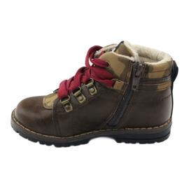American Club Boty boty se zipem 16221 hnědé hnědý 2