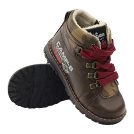 American Club Boty boty se zipem 16221 hnědé hnědý 3