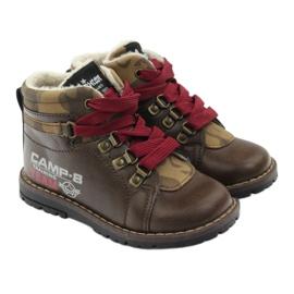 American Club Boty boty se zipem 16221 hnědé hnědý 4