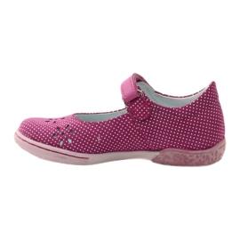 Dámské boty pro baleríny Ren But 3285 růžový bílá 2