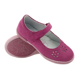 Dámské boty pro baleríny Ren But 3285 růžový bílá 3