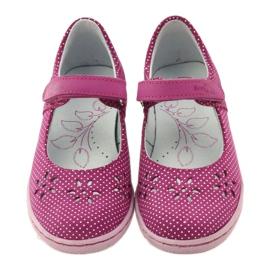 Dámské boty pro baleríny Ren But 3285 růžový bílá 4