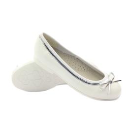 American Club Americká balerínová čerpadla s bílým lukem bílá 3