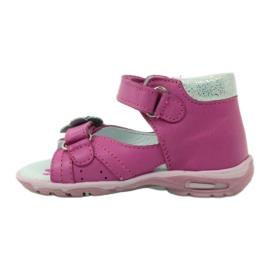 Velcro sandály s květinou Ren But 097 růžový 3
