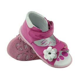 Velcro sandály s květinou Ren But 097 růžový 4