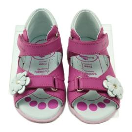 Velcro sandály s květinou Ren But 097 růžový 5