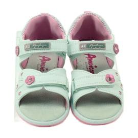 American Club Dětské sandály s americkou koženou vložkou 87285 4