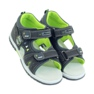 American Club Dětské sandály s koženou vložkou American 87289 šedá 4