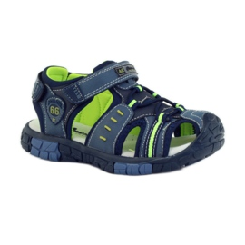 American Club Dětské sandály s koženou vložkou American 93607 1