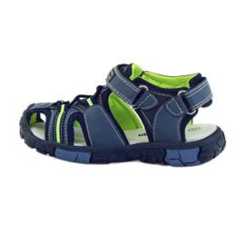 American Club Dětské sandály s koženou vložkou American 93607 2