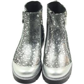 Boty boty izolované Bartek černá-stříbrná šedá 5