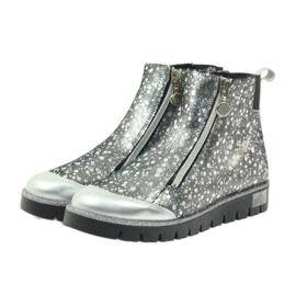 Boty boty izolované Bartek černá-stříbrná šedá 4