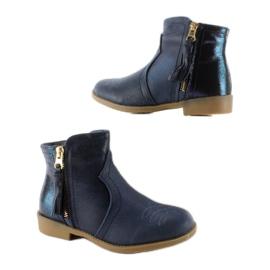 Kozačky boty K1647301 Marino válečné loďstvo 2
