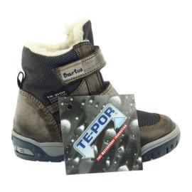 Bartuś Boote boty s membránou 006 okurkou béžový válečné loďstvo 5