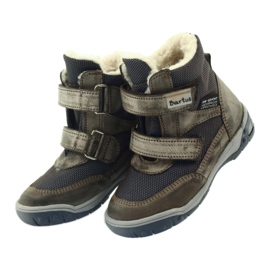Bartuś Boote boty s membránou 006 okurkou béžový válečné loďstvo 4