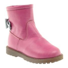 Boty s růžovým lukem Bartuś 317 šedá 1